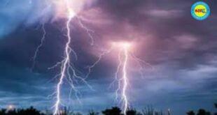 जौनपुर।बिजली गिरने से मकान का बारजा व विद्युत उपकरण हुआ क्षतिग्रस्त, बाल बाल बचे परिजन