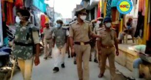 जौनपुर।नवागत थानाध्यक्ष अश्वनी कुमार दुबे ने भारी पुलिस फोर्स के साथ किया पैदल मार्च