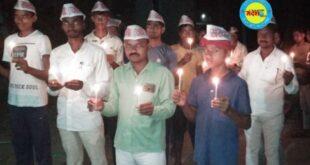जौनपुर।कैंडल मार्च निकालकर सरदार सेना के कार्यकर्ताओं ने दी श्रद्धांजलि