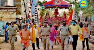 जौनपुर। मड़ियाहूं में निकली अति प्राचीन राम रथ, श्रद्धालुओं में खुशी