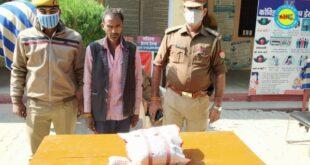 जौनपुर। एक किलों गांजे व अवैध रिवाल्वर संग दो गिरफ्तार