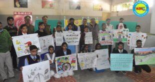 जौनपुर। राष्ट्रीय सड़क सुरक्षा माह के तहत  रंगोली चित्रकला की प्रतियोगिता का हुआ आयोजन