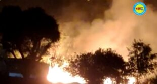 जौनपुर। शॉर्ट सर्किट से लगी आग, आधा दर्जन घर जलकर खाक