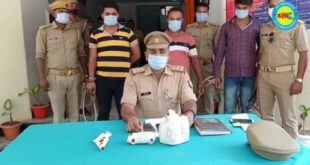 जौनपुर। पांच किलो गांजा और एक तमंचा के तीन को भेजा जेल, एक फरार, बरसठी पुलिस का मामला