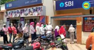 जौनपुर। रेड जोन घोषित करने के बावजूद यूनियन बैंक, एसबीआई बैंक खुले होने से सोशल डिस्टेंस की उड़ रही धज्जियां